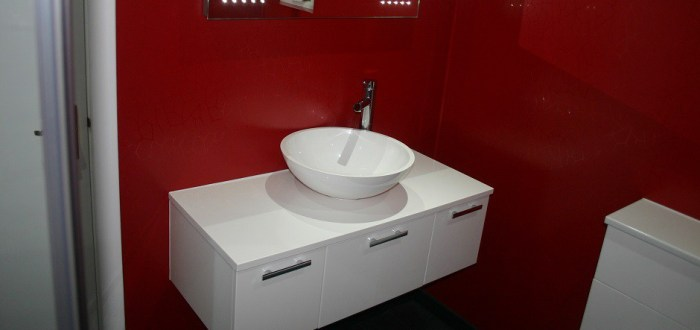 image for Bathroom Design, Supply And Installation Of The Wall Hung Gloss White  range. By Billy Walker Joinery Services Ltd, Fraserburgh, Aberdeenshire.