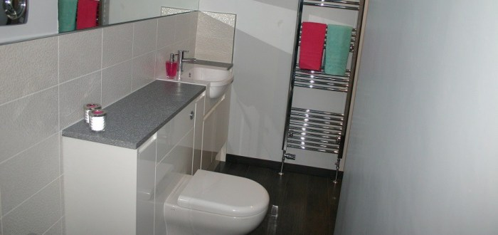 image for Bathroom Design, Supply And Installation Of The Gloss White  range. By Billy Walker Joinery Services Ltd, Fraserburgh, Aberdeenshire.