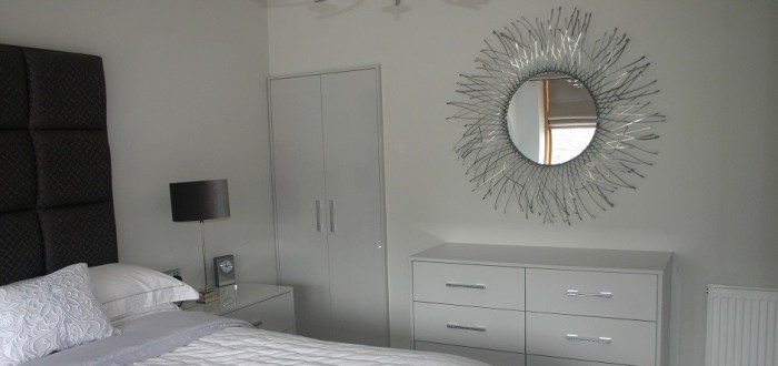 image for Bedroom Design, Supply And Installation Of The Crown Furore Icy White  range. By Billy Walker Joinery Services Ltd, Fraserburgh, Aberdeenshire.