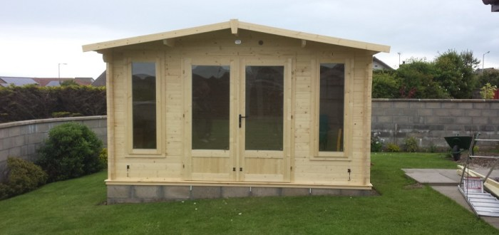 image for Joinery Design, Supply And Installation Of Summer House Log Cabin  range. By Billy Walker Joinery Services Ltd, Fraserburgh, Aberdeenshire.