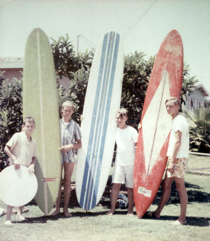 (left to right): Tommy Brunheozel, Billy Brunhoezel, Don Tucker and Bill Tucker