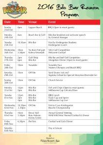 Program 2016 212x300 - 2016 Bilo Bar Reunion Programme
