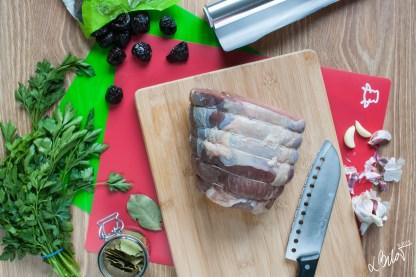 Topside or top rump roasting joint - beef