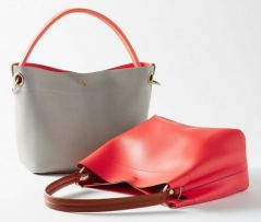Coral Hobo Slouch Bag