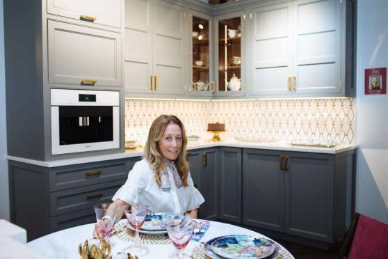 Dayle Bass of Dayle Bass Design in her Art of the Table kitchen