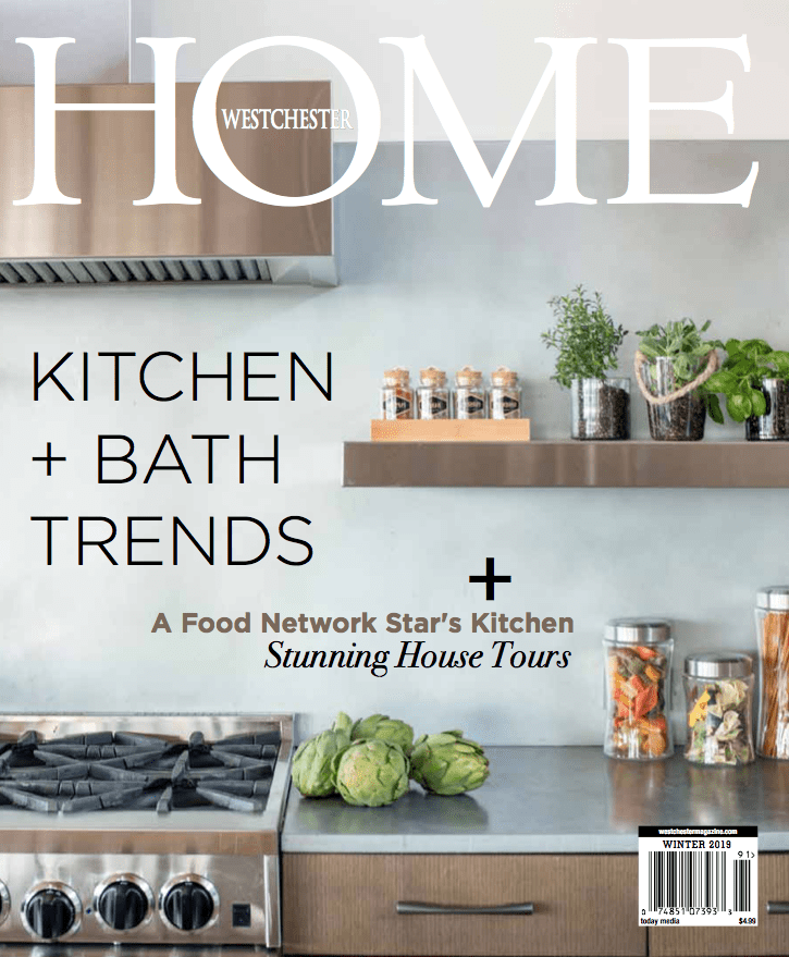 Westchester Home Magazine cover - Winter 2019 edition