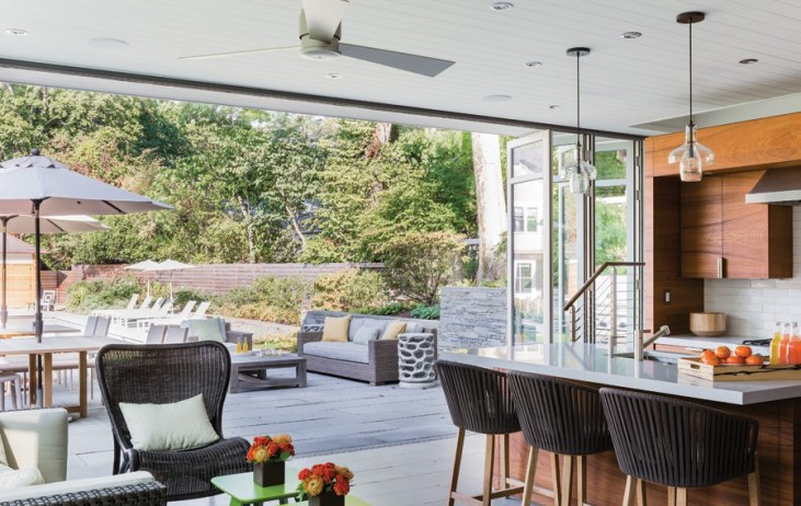 Kitchen Open to a Patio