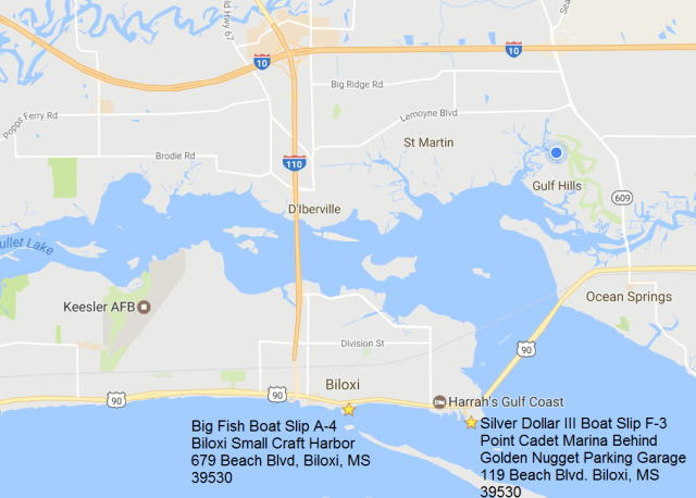 Our Boat Dock Locations Silver Dollar Iii And Big Fish Welcome