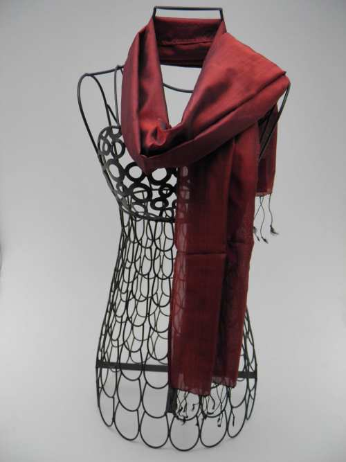 Essential Silk Scarf - Burgundy
