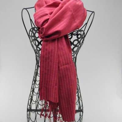 Elegant - Silk Shawl - Fuchsia