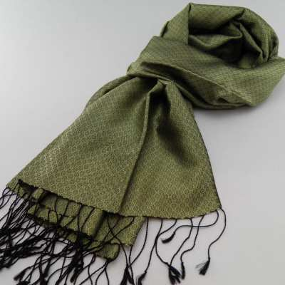Chorebap Silk Scarf - Green Tea