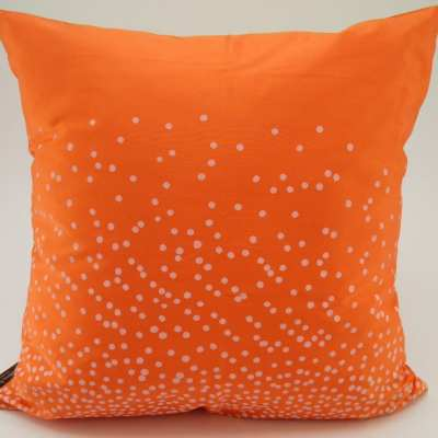 Happy Dots – Ethical Cushion Cover - Orange - 45x45cm