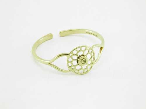 Le Bracelet Laiton Recyclé – Nid D'abeilles Rond Et Enclume