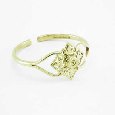 Bracelet – Tile And Bullet Rim – Recycled Brass