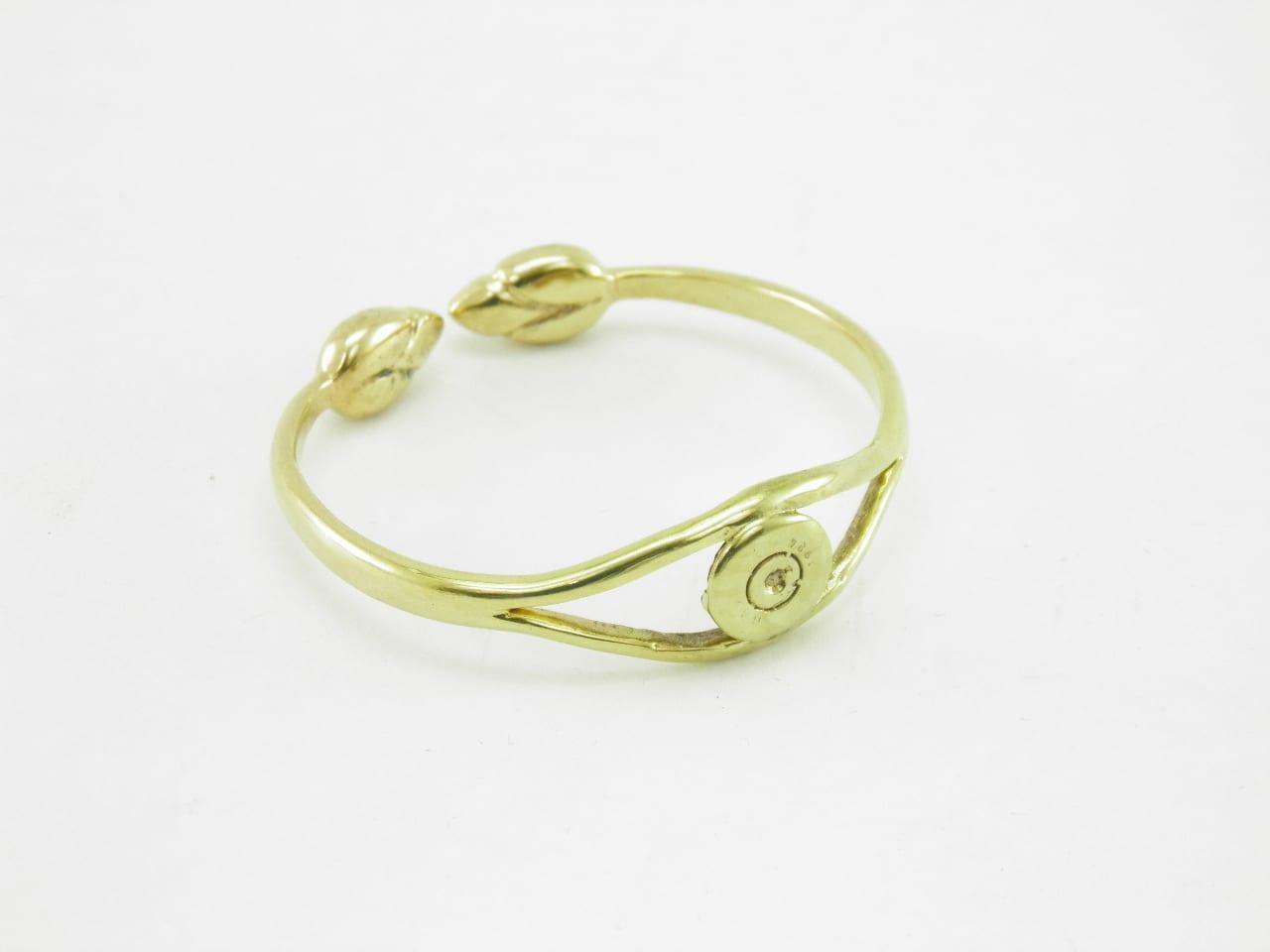 Le Bracelet laiton recyclé - Enclume et Lotus