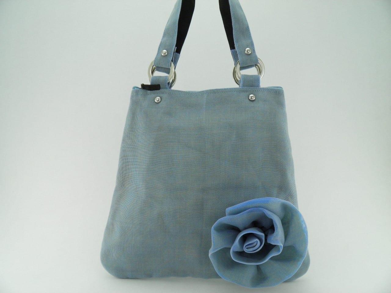 Le Fleuri - Cabas - Petit - Bleu pâle