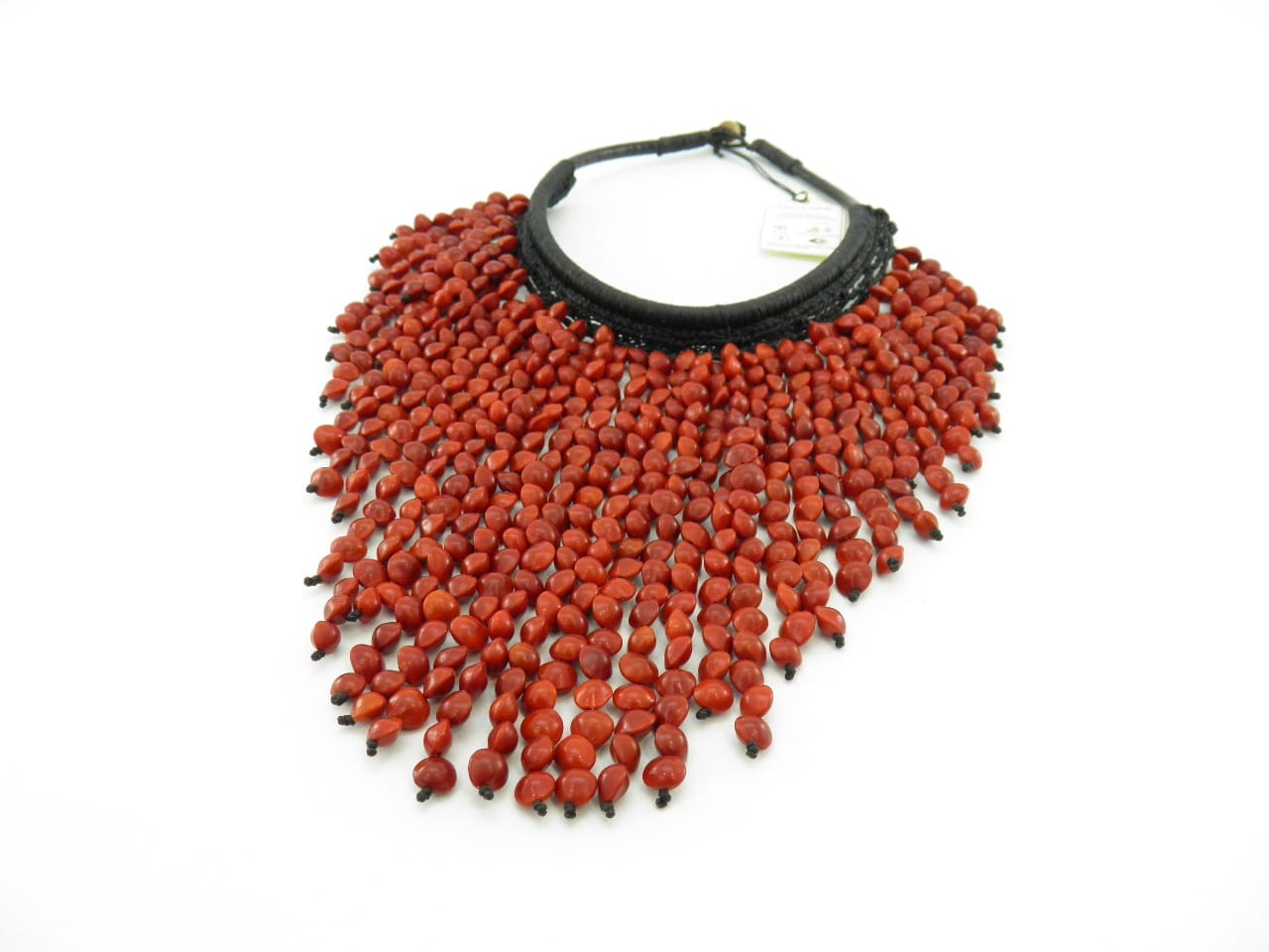 Le Splendeur - Collier graines naturelles - Rouge