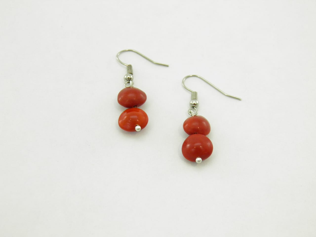 Les Pépites - Boucles d'oreilles graines naturelles - Rouge