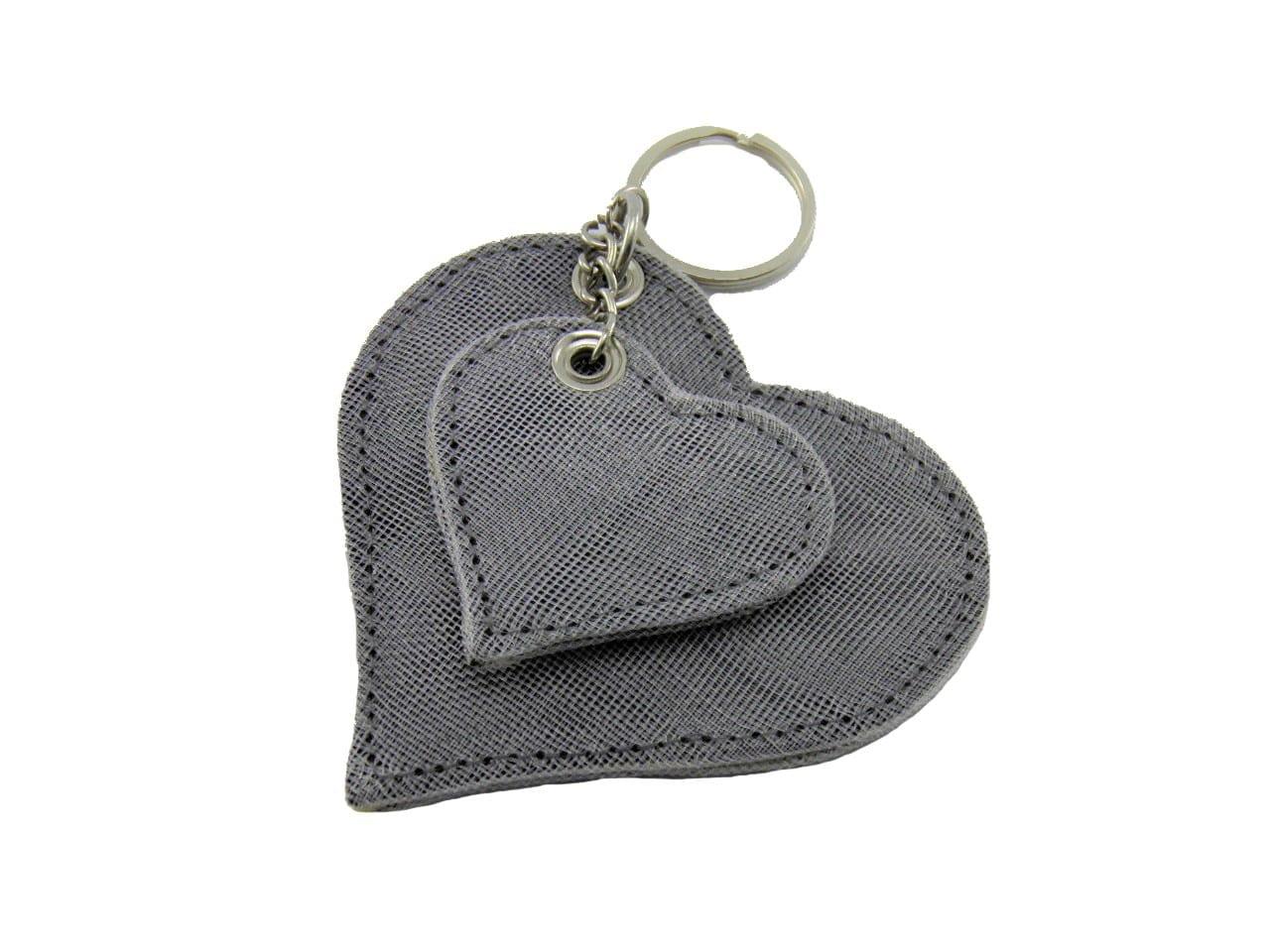 Le Porte-Clés Éthique Coeur - Gris