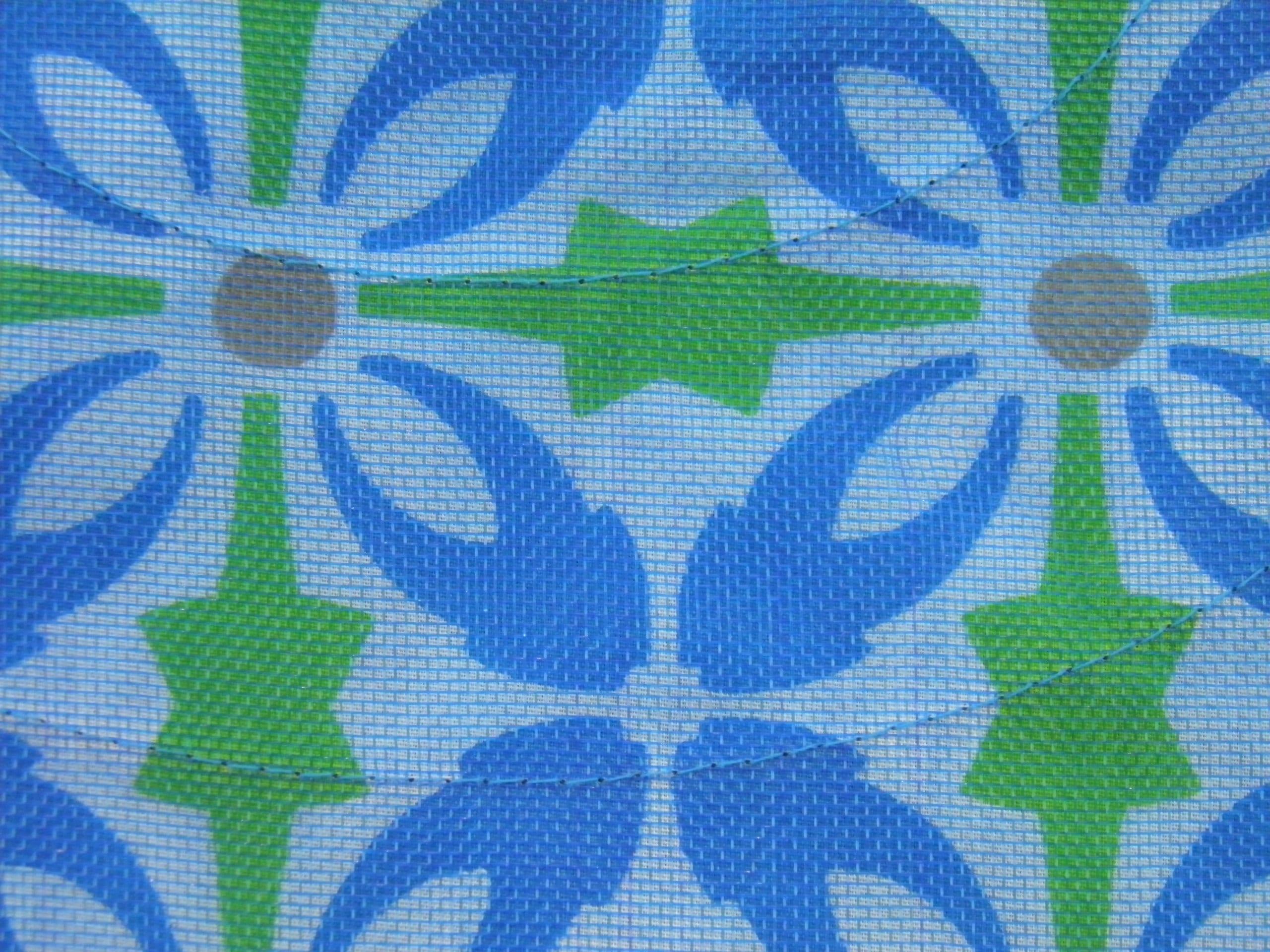 Bleu et vert