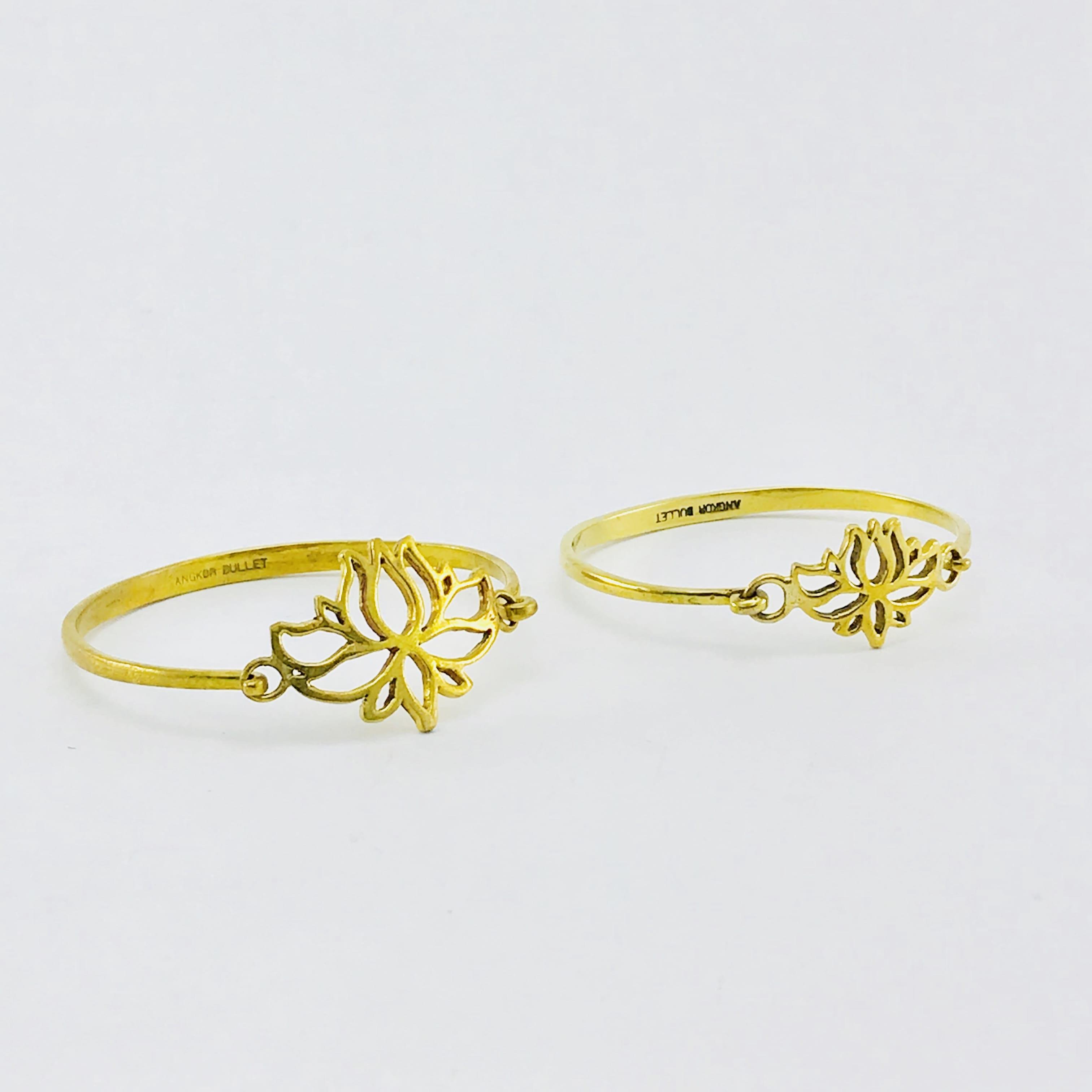 Le Bracelet laiton recyclé - Lotus - Petit et Grand