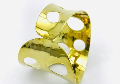 Pierced Bandeau Bracelet - Recycled Brass