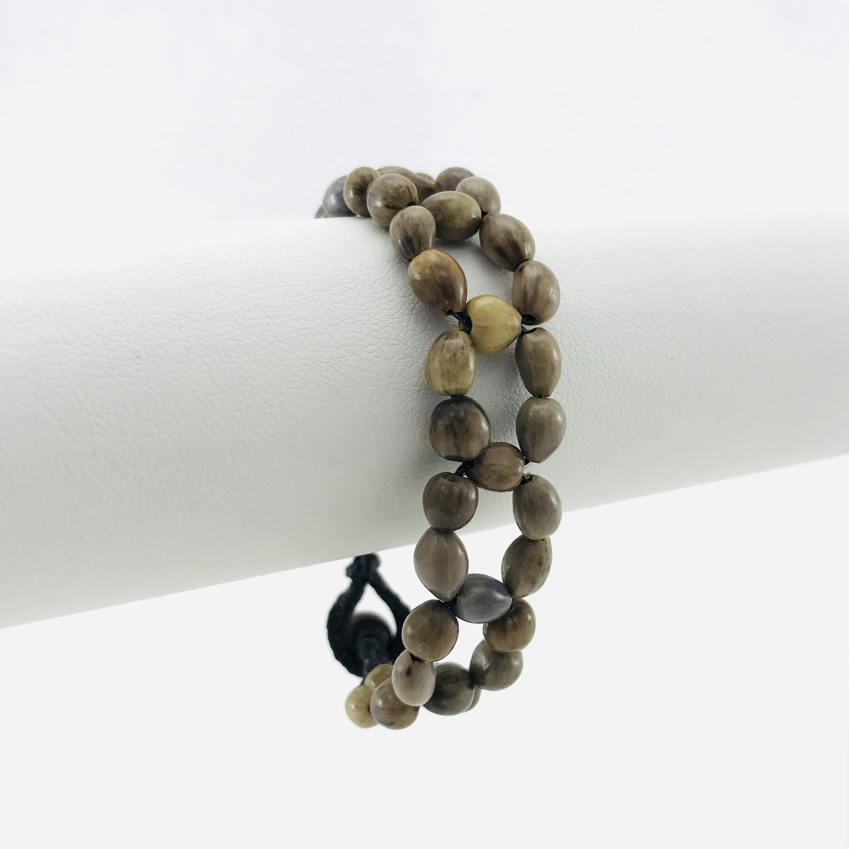 Le Fleur - Bracelet graines naturelles - Brun