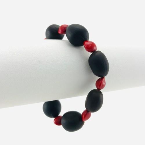 Le Bracelet Lotus - Graines Naturelles - Rouge