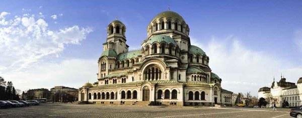 Öststatsresan, besöktes denna fina katedral i Sofia, Bulgarien.