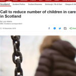 BBC on Parent Advocacy & increases in children in care