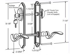 patio door replacement handle sets