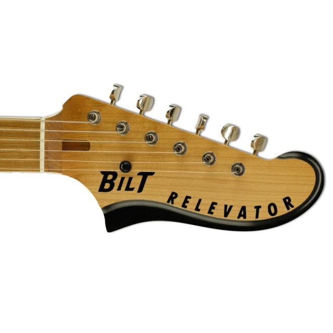Headstock, Black, Bound Top Relevator LS