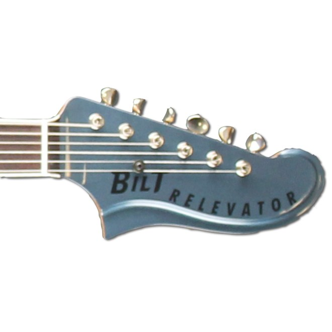 Headstock, Lake Placid Blue Metallic Relevator + Effects