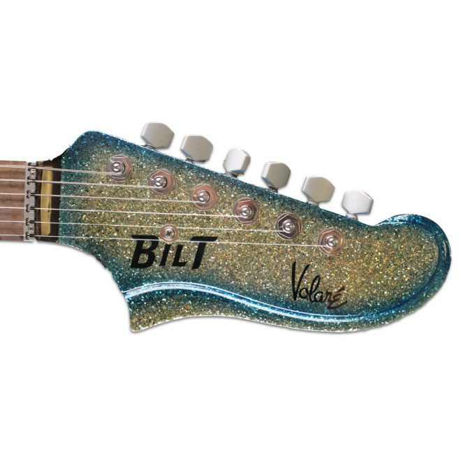 Headstock, Surf Burst Sparkle Volaré