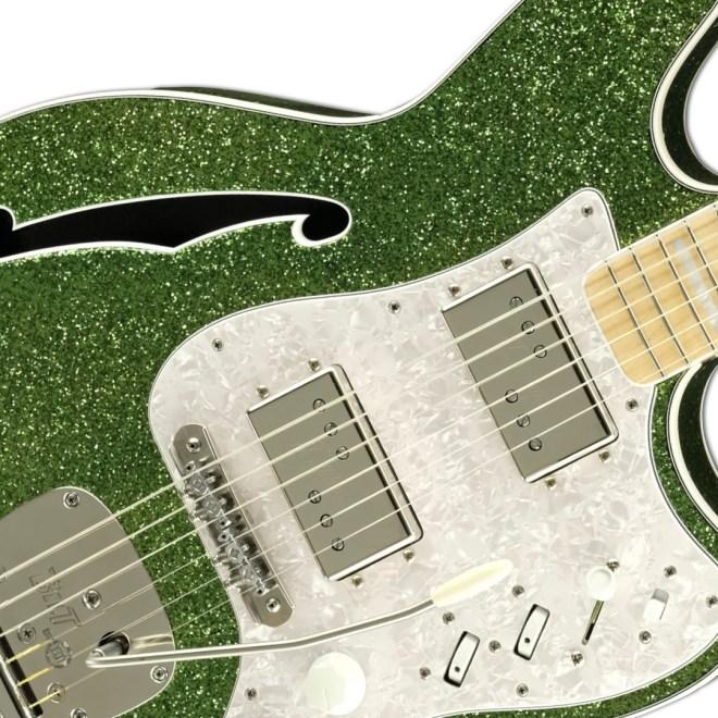 Front Detail, Green Sparkle Double Bound Zaftig