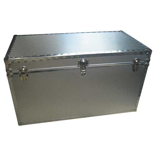 Attractive Embossed Metal Covered Trunks American Made