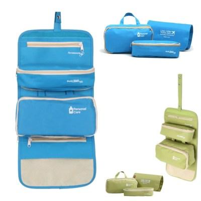 Großer Reise Kulturbeutel mit 4 Taschen, 2 Taschen abnehmbar