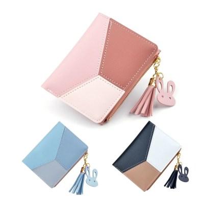 Damen Geldbeutel Geldbörse Brieftasche Portemonnaie Portmonee 3-Color mit Reissverschluss