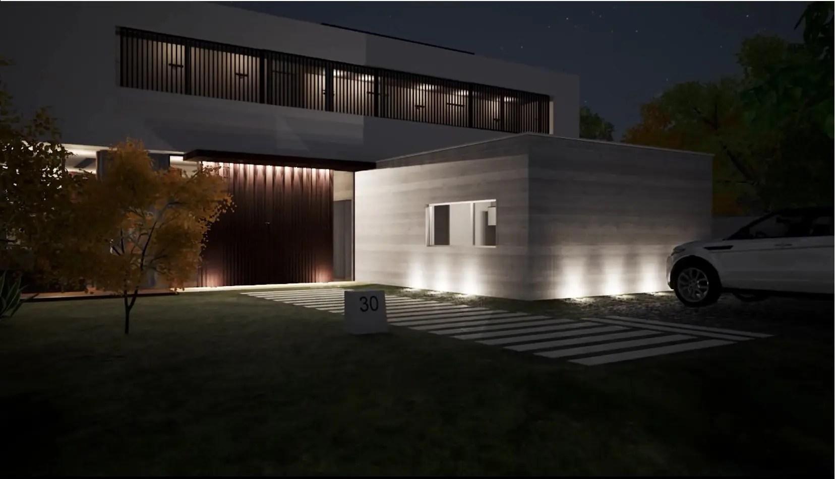 Progettare L'illuminazione Esterna Di Un Edificio Con Un