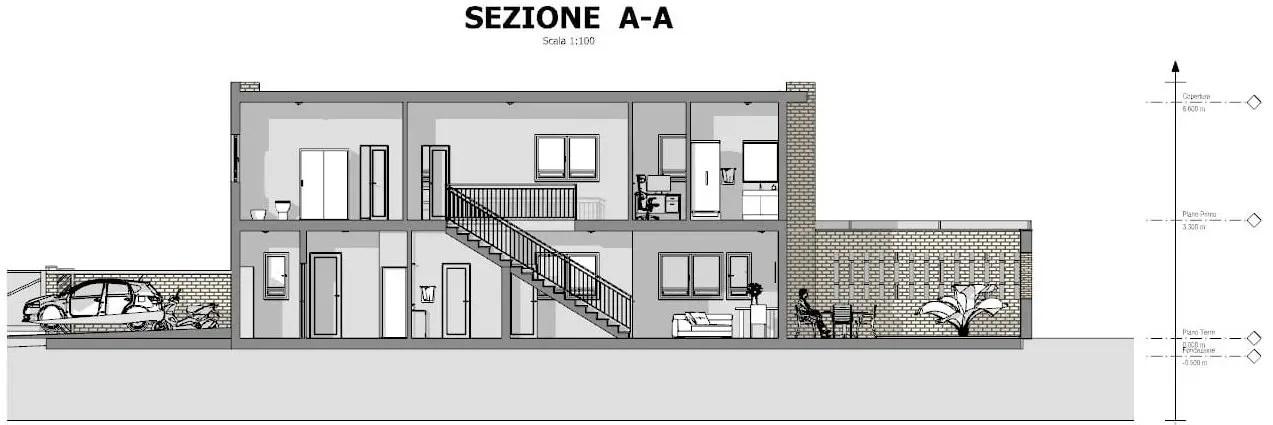 Progetti di case a schiera con patio o giardino esempi e