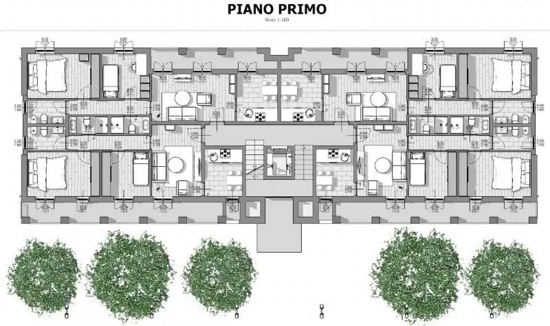 Case in linea progetti e esempi con piante planimetrie