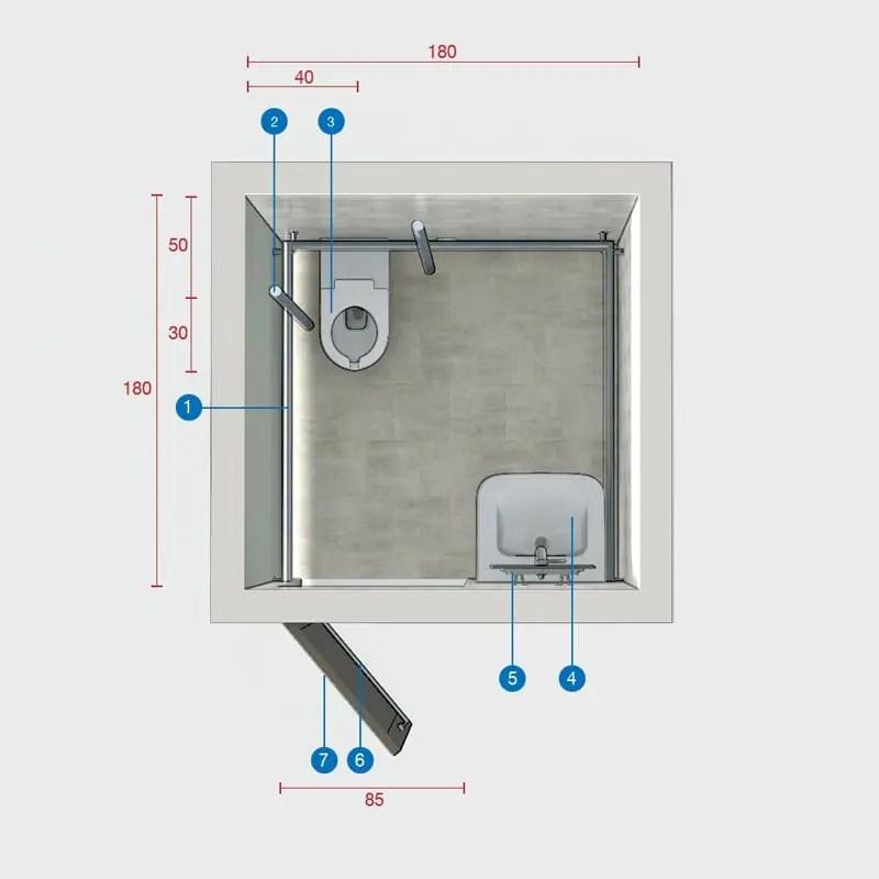 Come progettare un bagno per disabili norme e