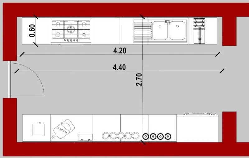 Con piani di lavoro su entrambi i lati o con. Come Progettare Una Cucina Guida Tecnica Per Il Progettista Biblus Bim