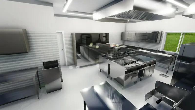 Progetto di una cucina per ristorante con norme e dwg  BibLusBIM