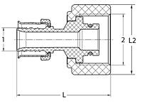 Item # 49234, Viega PEX Press port adapter Smart Connect