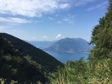 Stupenda vista del lago di Como da Camaggiore