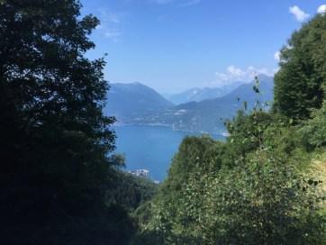 vista del lago da Camaggiore