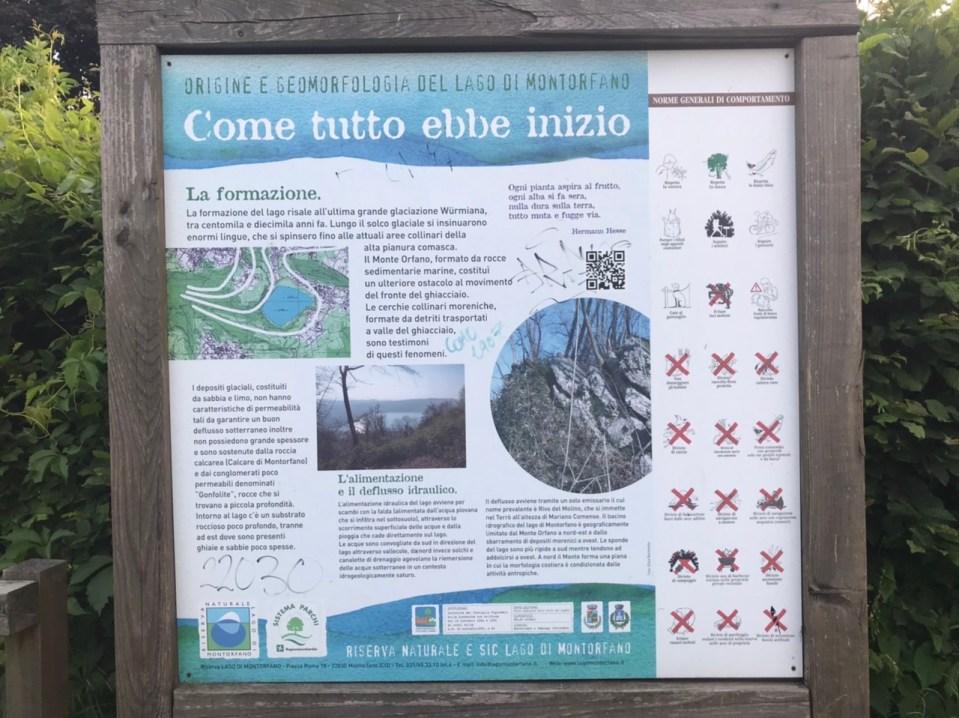 Pannelli didattici lago di Montorfano