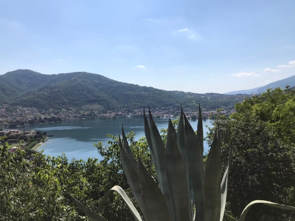Panorama sul lago di Garlate