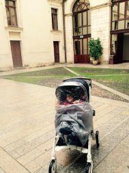 Michele nel cortile di Palazzo Ducale